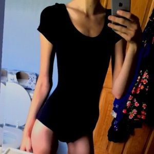 Dance: Black Short Sleeve Leotard